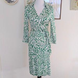 DVF vintage laurel leaf wrap dress